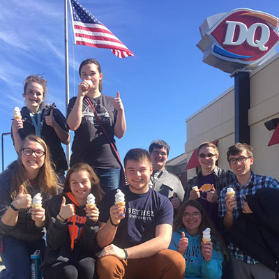 400x400 staples dairy queen eating ice cream