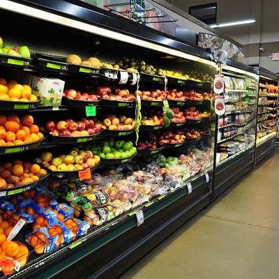 Ernies grocery store produce aisle